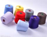 Filato filato poliestere filato anello del rifornimento Ne16s/1 21s/30s/1 della fabbrica per i calzini di lavoro a maglia