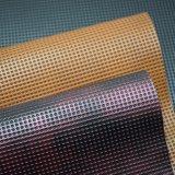 Cuoio sintetico dell'unità di elaborazione di doppio colore impresso cerchio per la borsa del pattino