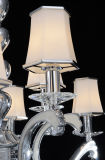 Moderno Morir-Casting Aluminium Crystal Chanelier Lamp con Glass Shades