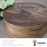Corteza de árbol redonda de encargo de Hongdao o caja de embalaje Wholesale_L de la torta de madera