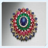 De nieuwe Broche van de Juwelen van de Manier van de Stenen van het Glas van de Boom van de Manier van het Ontwerp