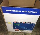 Bateria de carro livre da manutenção nova vermelha cinzenta do projeto DIN50mf do punho da bateria