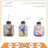 Lámpara de aceite de cristal de color sólido Mininature, linterna de keroseno, linternas de aceite