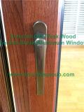 Vidrio reflectante Ventana de aluminio con marco, Ventana de madera de roble americano para ventanas de California USA