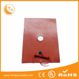 Base Heated de alumínio da esteira 300X300 do calefator da borracha de silicone
