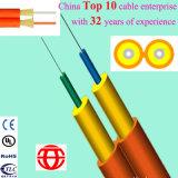 Двойной рисунок кабель дуплекса сердечника «8» крытый с волокном плотно буфера