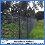 Clôture galvanisée enduite par PVC de maillon de chaîne de garantie
