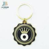 Trousseau de clés de coutume de logo d'oeil d'or d'alliage de peinture de promotion de poste en bloc
