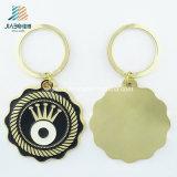 ばら積み品の昇進のペンキの合金の金の目のロゴの習慣Keychain