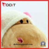 Игрушка гиппопотама плюша розового смычка мягкая заполненная для детей
