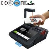 指紋NFCプリンターWiFi Bluetoothが付いている人間の特徴をもつPOSのチェックアウト機械