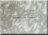 Mármore de pedra artificial branco do leite para a telha do revestimento/parede, bancada