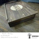 선물 포장 _E를 위한 뚜껑 나무 상자를 미끄러지는 Hongdao 주문품 더 어두운 목제 색깔