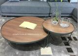 Metal Frame Wholesale Table à thé Table à café en bois massif