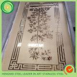 Gravure décorative de feuille d'acier inoxydable de porte d'ascenseur de fournisseur de Foshan
