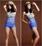 Bikini sexy blu di riserva materiale poco costoso dello Swimwear del Grenadine dell'Italia