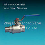 Maschio a Female Threaded Ball Valve Stainless Steel 316 Male Threaded Female Ball Valve