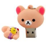 Lecteur flash USB de PVC d'ours de dessin animé de mémoire Flash d'USB Pendrive
