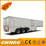 Asse economico 8X6 tri casella/del Van di Chhgc del carico rimorchio semi con le serrature interne