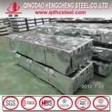 Folha de aço ondulada da telhadura do zinco Az100 de alumínio