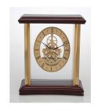 Horloge squelette en bois antique