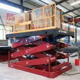 Pesada mesa elevadora de tijera hidráulica de servicio de ventas