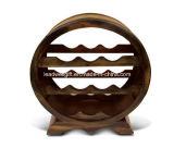 Meubles en bois de stand de crémaillère de vin de forme de cercle de support de 10 bouteilles