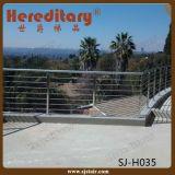 Trilhos da segurança do Baluster do aço inoxidável para o terraço interior (SJ-S324)