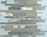 Het gouden Mozaïek van de Mengeling van het Glas en van het Metaal