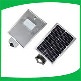 중국 신제품 6W 태양 LED 가로등, 1개의 통합 태양 가로등에서 전부