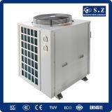 El Save75% Cop4.23 eléctrico R410A 12kw, 19kw, 35kw, 70kw, calentador de agua máximo de la pompa de calor del compacto del acero inoxidable de 105kw 380V 60deg c