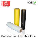 Película anaranjada colorida del embalaje de la paleta del abrigo de la película de LLDPE