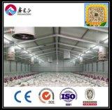 물결 모양 강철판과 섬유 유리 절연제 벽 (XGZ-0803)를 가진 2017년 중국 고명한 상표 빛 강철 닭장