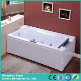Vasca da bagno acrilica di massaggio di rettangolo della singola persona con il cuscino (TLP-669)