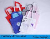 Impresión multicolora monocromática de costura, fork de la mano que refuerza el bolso de compras Handheld no tejido