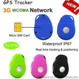 отслежыватель GPS портативная пишущая машинка сети 3G миниый с двусторонней связью (EV-07W)