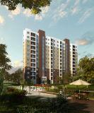 Einzelnes Wohngebäude-Außen-Wiedergabe-Effekte mit vorzüglicher Arbeit