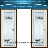 1.0mm~2.0mmの白いカラー花が付いているアルミニウム内部の開き窓のドア