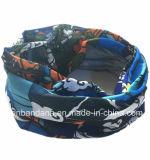 Naar maat gemaakte Embleem Afgedrukte Polyester Microfiber Naadloze Bleekgele Headwear