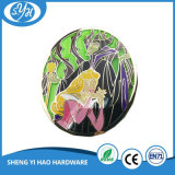 Custom Zinc Alloy 3 '' Stained Glass Badge for Souvenir
