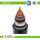 Câbles d'alimentation isolés par PVC d'aluminium de conducteur d'alliage de yuan du DA