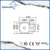 Boven de TegenGootsteen van de Keuken van Moduled van het Roestvrij staal (acs-6349D)