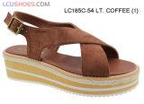 Платформа плоской сандалии лета ботинок женщин вскользь крупноразмерная