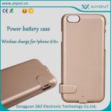 Caisse de batterie rechargeable sans fil de TPU+PC pour le cas de remplissage de batterie de côté de pouvoir de qualité de téléphone mobile de Dongguan