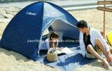 浜の避難所またはキャンプテントの避難所か日曜日浜のテントを現れなさい