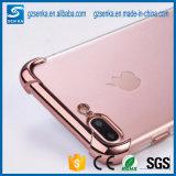 La absorción de choque TPU flexible de parachoques Anti-Rasguña la contraportada clara protectora delgada para el iPhone 6/6s más