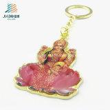Buddhism de encargo Keychain del metal de la impresión del bastidor de la aleación de la fuente para el recuerdo
