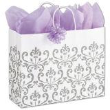 Sac environnemental de luxe de sac à provisions de sac de cadeau de sac de papier de tissu de clients du mouvement giratoire de l'hiver
