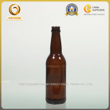 Mattbier-Glasflasche des SCHWARZ-330ml mit Kronen-Schutzkappe (043)