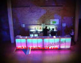 Artificial Modern Stone Surface LED Round Bar for Counter Restaurant